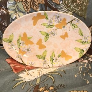Anthropology Soap Dish Gold Butterflies